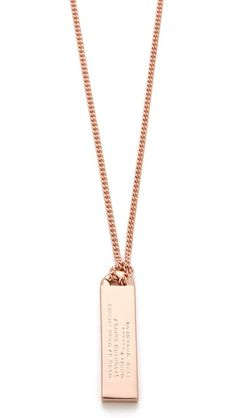 *Idea - personalize inscription - MS. Marc by Marc Jacobs Trompe l'Oeil Toggles & Turnlocks ID Tag Necklace