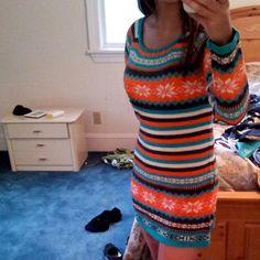 Sale Nwt Orange Harvest Sweater Tunic Dress