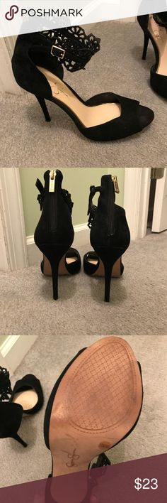 Jessica Simpson black heels Worn once to an event, light wear on the soles but otherwise in great condition. Jessica Simpson Shoes Heels