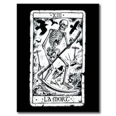La Mort Tarot Card Post Card