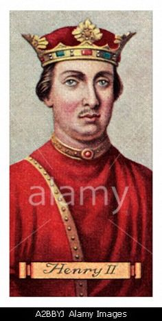 King Henry II one of a set of 50 EDITORIAL USE ONLY Stock Photo