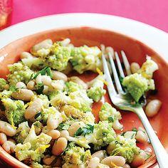 Ok-Romanesco Broccoli and Cannellini Bean Salad Recipe