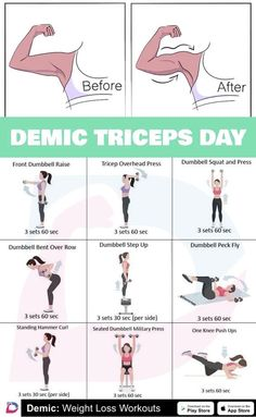 Demic triceps day The post Demic triceps day appeared first on sport.You can find Arm workout women and more. Fitness Workouts, Fitness Workout For Women, Body Fitness, Health Fitness, Fitness Circuit, Arm Workout Women No Equipment, Arm Workout Women With Weights, Shape Fitness, Summer Fitness