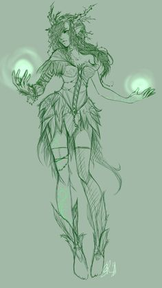 it's just a sketch so far and somewhat a part of a brainstorming-process for creating a new original character. it was supposed to be a sylvari of GuildWars 2 first but then it turned more and more...