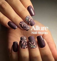 By Allure Nail Studio Beautiful Nail Art, Gorgeous Nails, Pretty Nails, Beautiful Nail Designs, Amazing Nails, Matte Nails, Pink Nails, Gel Nails, Gel Manicures