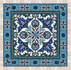 Tiles and stone mosaic wall art decor Islamic art ready to Mosaic Wall Art, Ceramic Wall Art, Tile Art, Mosaic Mirrors, Wall Tiles, Tile Patterns, Pattern Art, Turkish Art, Turkish Tiles