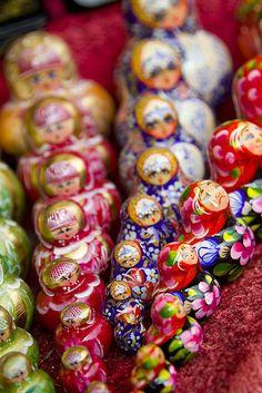 Colourful Matryoshka Doll Sets.