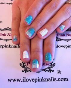 Blue Ombré Rock Star Nails