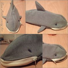 Toothless shark baby  pencil case
