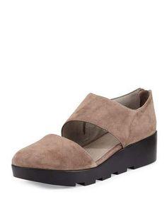 e22e7082ca Eileen Fisher Turban Asymmetric Wedge Pump, Dusk Wedge Pump, Wedge Shoes,  Dusk,