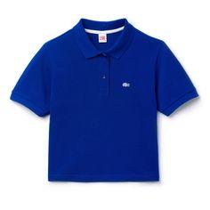d45a4d0ac1 Polo classique Lacoste bleu nuit Polo Crop Top, Blue Crop Tops, Blue Short  Sleeve