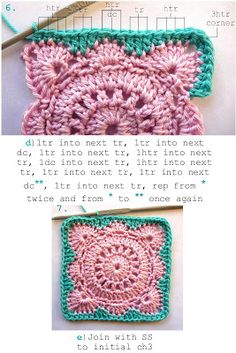 Crochet Solid 'Willow' Granny - Photo Tutorial ❥ 4U // hf