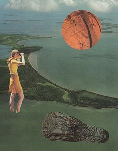 Collage Print The Floridian by ParadiseCircusPrints on Etsy