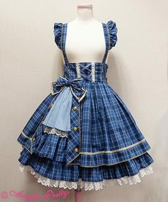 Angelic Pretty Tartan Holic Skirt (This is so tacky, I love it. Pretty Outfits, Pretty Dresses, Beautiful Outfits, Cool Outfits, Kawaii Fashion, Lolita Fashion, Cute Fashion, Old Fashion Dresses, Fashion Outfits