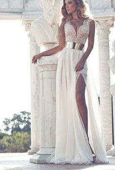 white prom dresses #prom #dress #evening