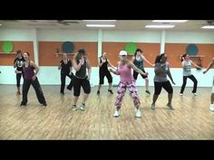 Here is the newest one that was choreographed last minute before a Zumbathon the next day...it was lots of fun creating this with my new Zumba family @ Co-Mo!  Thanks to everyone who stayed after class tonight to film this song even though we were all tired and sweaty!!  Hope y'all enjoy!!  (I do NOT own the rights to this song and this video is...
