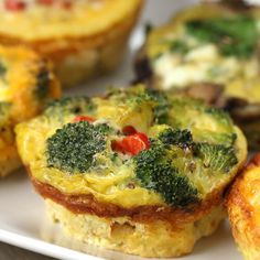 Muffin Tin Customizable Veggie Egg Cups Recipe by Tasty - Breakfast Ideas , Breakfast Cups, Quick Healthy Breakfast, Breakfast Casserole, Breakfast Ideas, Essen To Go, Veggie Egg Cups, Cooking Recipes, Healthy Recipes, Cooking Eggs