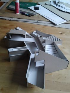 Architecture Model Making, Concept Architecture, School Architecture, Residential Architecture, Amazing Architecture, Interior Architecture, Deconstructivism, Casa Patio, Hospital Design