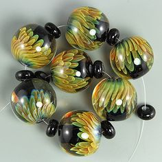 Ikuyo Handmade Lampwork Glass Focal Bead Set SRA | eBay