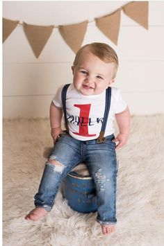 First Birthday Outfit Boy Birthday Personalized Top Distressed Denim Suspender Pants or Shorts Boy Smash Cake Outfit Boy Photo Outfit - Fishing Birthday Shirt - Ideas of Fishing Birthday Shirt - First Birthday Outfit Boy Birthday Personalized Top First Birthday Outfits Boy, 1st Birthday Photoshoot, Baby Boy First Birthday, Birthday Boy Shirts, Birthday Boys, Cake Birthday, Birthday Ideas, Baby Boys, Fotos Baby Shower
