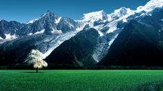 Bossons Glacier Alps Snow Mountains Wallpaper [1920x1080]