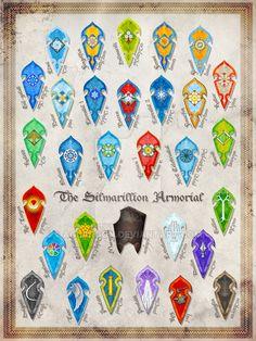 The Silmarillion Armorial Complete by Aglargon on DeviantArt