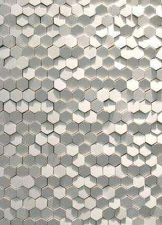 a grey theory: Gray tile grey tile Honey-comb wall tile, Tokujin Yoshioka