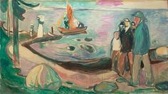 EDVARD MUNCH   Out the Sea, 192?