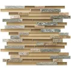 Merola Tile Tessera Piano Suffolk 11-5/8 in. x 11-3/4 in. x 8 mm Glass and Stone Mosaic Tile GDMTPNS at The Home Depot - Mobile