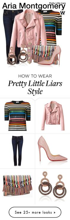 """""""Pretty Little Liars"""" by wearwhatyouwatch on Polyvore featuring Sonia Rykiel, AG Adriano Goldschmied, Valentino, Stella & Dot, Christian Louboutin, Suzy Levian, television and wearwhatyouwatch"""