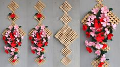 Easy Diy popsicle stick crafts home decor Rope Crafts, Easy Crafts, Diy And Crafts, Easy Diy, Diy Popsicle Stick Crafts, Popsicle Crafts, Paper Flowers Diy, Flower Crafts, Cute Diy Room Decor