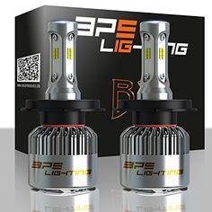 BPS Lighting B2 LED Headlight Bulbs Kit 9006 HB4 w/Clear Arc Beam 80W 12000LM 6000K - 6500K White CSP LED Headlight Conversion for Replace Halogen Bulb Headlights - (2pcs/set). For product info go to:  https://www.caraccessoriesonlinemarket.com/bps-lighting-b2-led-headlight-bulbs-kit-9006-hb4-wclear-arc-beam-80w-12000lm-6000k-6500k-white-csp-led-headlight-conversion-for-replace-halogen-bulb-headlights-2pcsset/