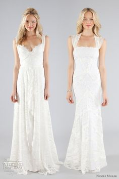 nicole miller bridal fall 2013 lace wedding dress cap sleeve straps--- left please! Wedding Dresses With Straps, Elegant Wedding Dress, Chic Wedding, Bridal Dresses, Wedding Styles, Wedding Gowns, Wedding Robe, Lace Wedding, Nicole Miller Bridal
