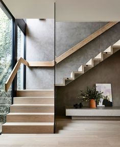 Bayside House by Matyas Architects Melbourne VIC Australia 11 20 2019 Home Stairs Design, Modern House Design, Stair Design, Staircase Design Modern, Modern Interior Design, Modern Railing, Timber Staircase, Stair Railing, Architects Melbourne