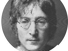 John Lennon designed by Iaroslav Lazunov. Connect with them on Dribbble; Optical Illusion Photos, Optical Illusions, Vision Clothing, Moon Cafe, Matt Anderson, Spiral Art, Halftone Pattern, Egg Designs, John Lennon