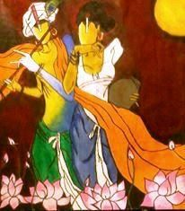 krishna n Radha - Painting by vaihbav yadav in My Diary at touchtalent 77467 at touchtalent 77467