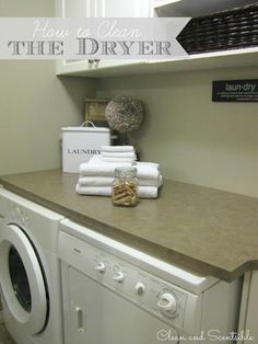 Use this DIY tutorial to clean your dryer inside and out. A good cleaning will reduce energy usage and the risk of dryer fires!
