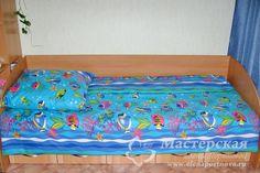 """Раскрой и пошив односпального комплекта постельного белья """"Немо"""" из ткани шириной 150 см  #постельноебелье #шьемсами #рукоделие #мастерская #мастеркласс #МК"""