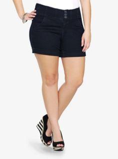 Torrid High-Waisted Denim Shorts - Dark Rinse