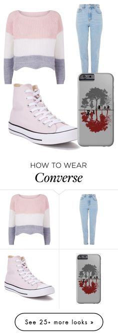 """Untitled #868"" by daniela-silva-souza on Polyvore featuring Topshop and Converse"