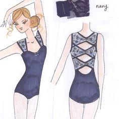 Lace Leotard #Sketch #dancewearsolutions