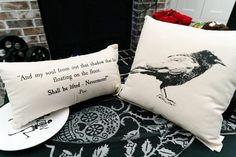 """""""The Raven"""" Canvas Pillow Set"""