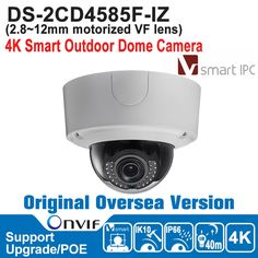718.87$  Buy now - http://alins1.worldwells.pw/go.php?t=32782006662 - Hik IP Camera POE 8MP DS-2CD4585F-IZ IP Camera Outdoor 4K Smart Outdoor Dome Camera IP66 IK10 Smart IPC Audio/AlarmIO