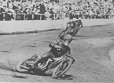 1936, Speedways 1st World Champion, Australian Lionel Van Prague at the Sydney Show Ground on a JAP.