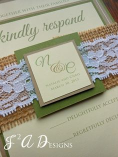 Burlap lace greenbrownyellow wedding invitation olive green burlap lace greenbrownyellow wedding invitation olive greenkraft paper solutioingenieria Choice Image