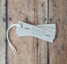 Wedding favor tags  mr and mrs tags bridal shower by PrintSmitten, quantities of 12