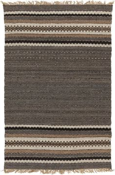 Take your space to unmatched levels of divine design with the addition of any of the rugs of the Camel collection by Papilio for Surya. Hand woven in a captivating combination of wool and jute, the series of striking stripe Grey Rugs, Beige Area Rugs, Brown Rugs, Southwestern Area Rugs, Sweet Home, Brown And Grey, Ash Grey, Dark Brown, Gray