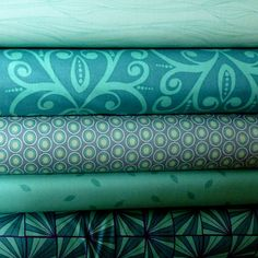 Real Teal Stash Builder Bundle  Fat Quarters by sewfreshfabrics, $13.75