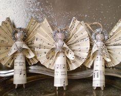 Weihnachten Engel Notenpapier schöne Bastel