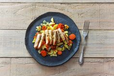 Sugar-Sweet Pork Chops with Mixed Root Veggies